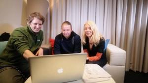 Kirjastokaista - Panu Somerma, Mikko Helander ja Riitta Taarasti.
