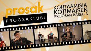 Kirjoja ja kirjailijoita Prosak-proosaklubeilta