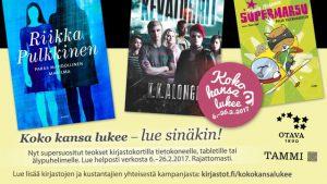 Koko kansa lukee – Hela folket läser 2017