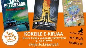 Koko kansa lukee – Hela folket läser 2018