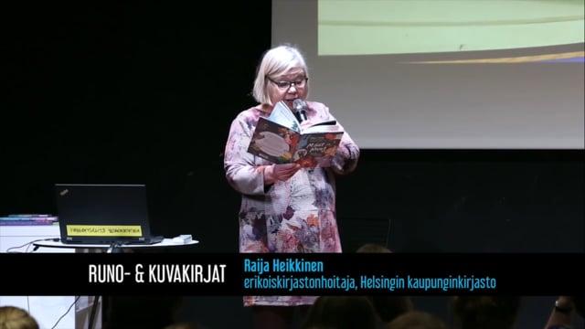 Raija Heikkinen: Lasten kirjareppu 2018 - Runo- ja kuvakirjat - Kirjastokaista