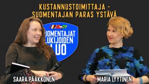 Kaksi naista keskustelee.