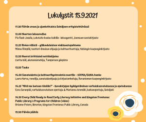 Keltaisella pohjalla Lukulystit 15.9.2021 webinaarin ohjelma